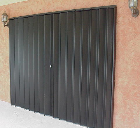 Accordion shutters installed by Jim Ruthrford Construction